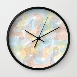Delicate Judoka 01 Wall Clock