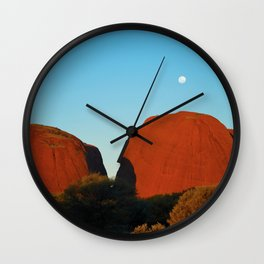 Kata Tjuta Moonrise - Greg Katz Wall Clock