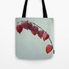 Hozuki, Autumn Botanical Still Life - Japanese Lantern Pods in Vase Tote Bag