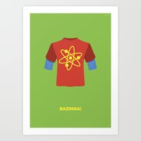 bazinga Art Prints featuring Bazinga! by dudsbessa