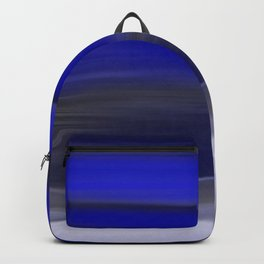 Dark Night Seascape Abstract In Blue Backpack