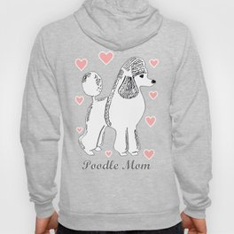 Poodle Mom in Pink and White Hoody