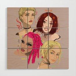 Women Who Rock - 90s Wood Wall Art