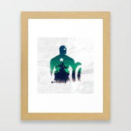 captain in the war Framed Art Print