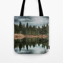 Across the Lake Tote Bag