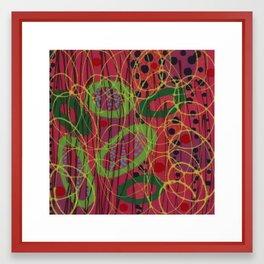 Untitled, green rings Framed Art Print