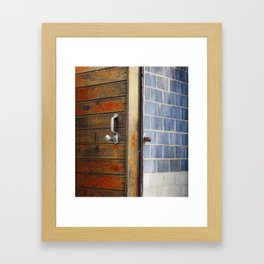 Latched Framed Art Print