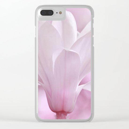Magnolia flower macro 256 Clear iPhone Case