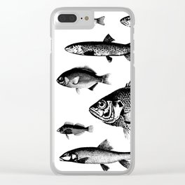 VINTAGE FISH Clear iPhone Case