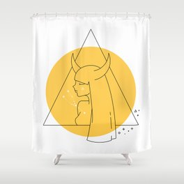 Taurus Sign Shower Curtain