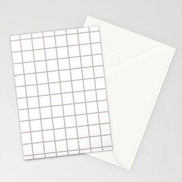Grid Pattern Beige Stationery Cards