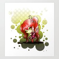 valentina Art Prints featuring Valentina by ASerna