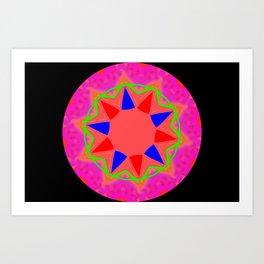 Abstact 5 Kaleidoscope Art Print