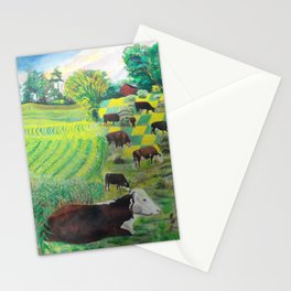 A cow's dream Stationery Cards