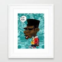 hip hop Framed Art Prints featuring Hip-Hop. by BbStarD