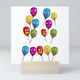 balloons terrible shari halloween Mini Art Print