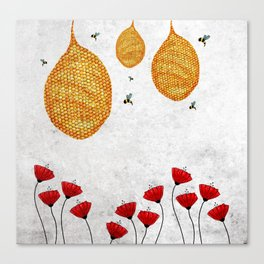 The Dance of the Honeybee Canvas Print