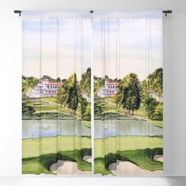 The Congressional Golf Course 10th Hole Blackout Curtain