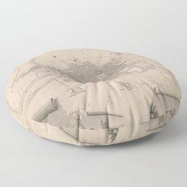 Vintage Map of Rennes France (1829) Floor Pillow