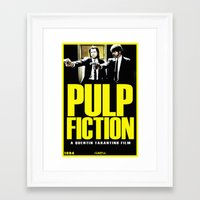 pulp fiction Framed Art Prints featuring PULP FICTION by Rikartdo