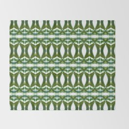 Palm Leaf Kaleidoscope (on white) #2 Throw Blanket