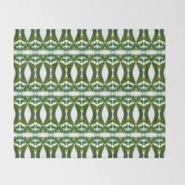 Palm Leaf Kaleidoscope (on white) #2 Throw Blanket