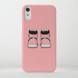 Rust Pink Print iPhone Case