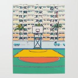 Ball is life - Baseball court Palmtrees Poster