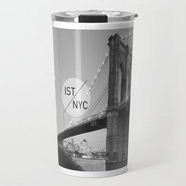 Bridges - nyc vs istanbul Travel Mug