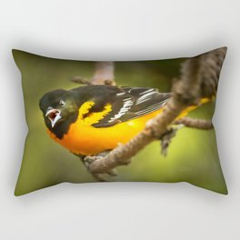 Oriole Speaks Rectangular Pillow