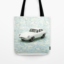 Vintage 1961 Jaguar Type E Matchbox Tote Bag