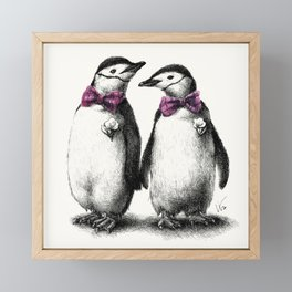 Roy and Silo Framed Mini Art Print