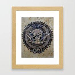 Moth Of Death Framed Art Print