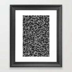 Comp Camouflage Pattern / Black Framed Art Print