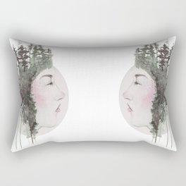"""Sometimes, even the snow is sad."" Rectangular Pillow"