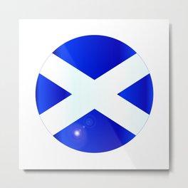 Scotish Flag Button Metal Print