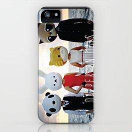 Dapper Animals Sunset Faces iPhone Case