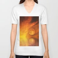 skyfall V-neck T-shirts featuring skyfall by LuMixaArt