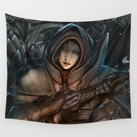 diablo Wall Tapestries featuring Diablo III -reaper of souls by Bakushade