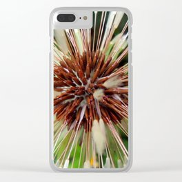 Dandelion after rain Clear iPhone Case