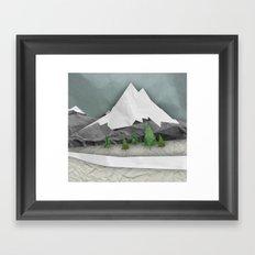 Wrinkled winter  Framed Art Print
