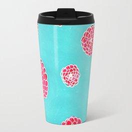 Pink flowers in blue Travel Mug