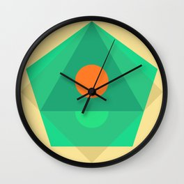 Soft Pastel Wall Clock