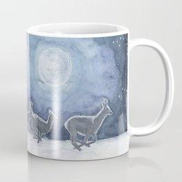 Siberian roe deer in the moonlight Coffee Mug