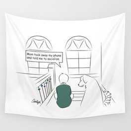 Get Off Your Phone and Socialize Wall Tapestry