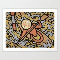 Canoeing - Sport Fever Art Print
