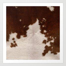 brown cowhide Art Print