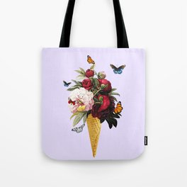 Flower flavored Ice Cream Tote Bag