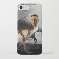 christopher walken iPhone & iPod Cases featuring ChristopheRAPTOR Walken - Christopher Walken Velociraptor by Kalynn Burke