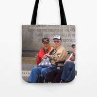heroes Tote Bags featuring Heroes by Anthony M. Davis